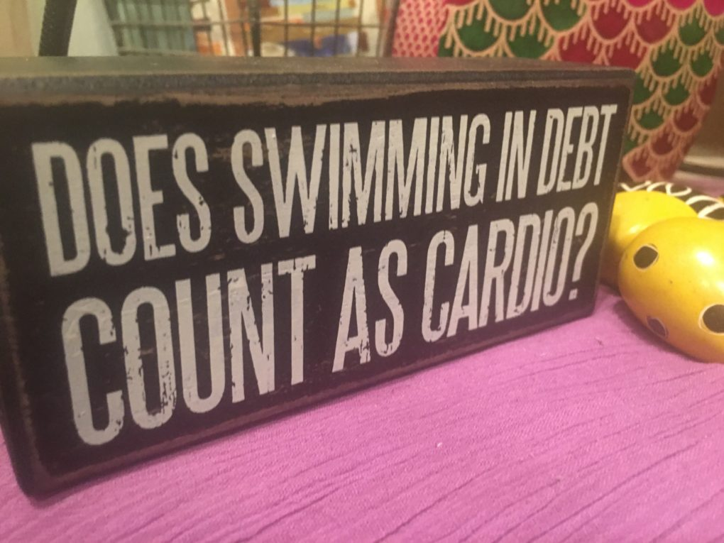 Swimming in debt is not a healthy exercise